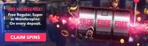 》Regular, Super and Monster Spins on Every Deposit at Free Spins Casino