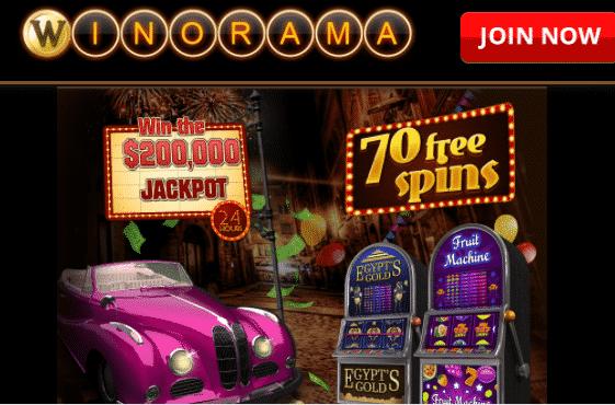 ★ 70 No Deposit Free Spins at Winorama