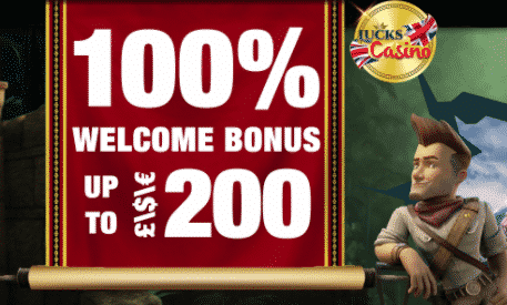★ 100% First Deposit Bonus up to C$200 at Lucks Casino