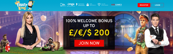★ Claim Your 100% First Deposit Bonus up to C$200 at Fruity King
