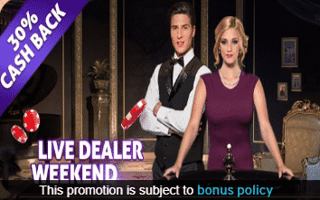 》30% Cashback Bonus up to C$300 on Live Dealer at Vegas Paradise Casino