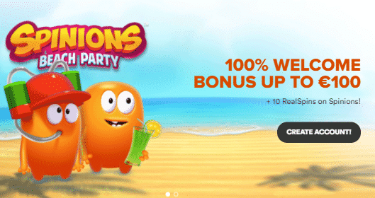 》Get a 100% First Deposit Bonus up to C$100 + 10 Free Spins on Spinions Beach Party at InstaCasino