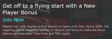 》100% First Deposit Bonus up to C$200 at bet365 Casino