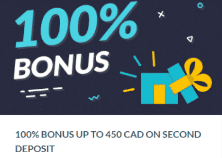 ★ 100% Second Deposit Bonus up to C$450 at Mr. Bet Casino