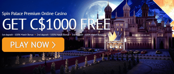 》100% Second Deposit Bonus up to C$300 at Spin Palace Casino