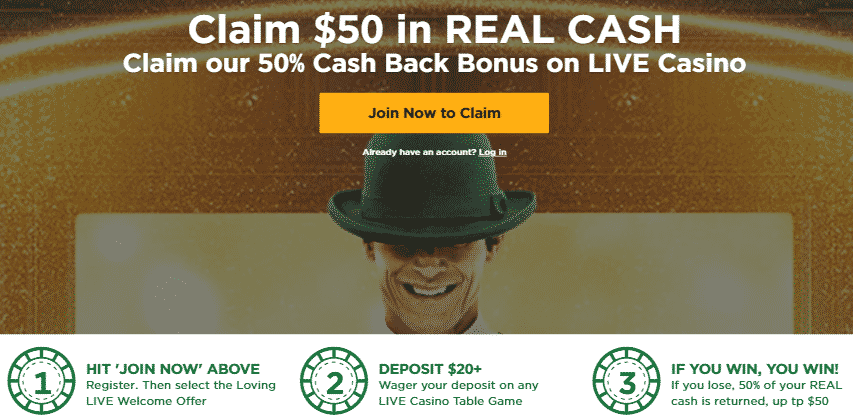 ★ Get a 50% Cashback Bonus up to C$50 on Live Casino at Mr Green Casino