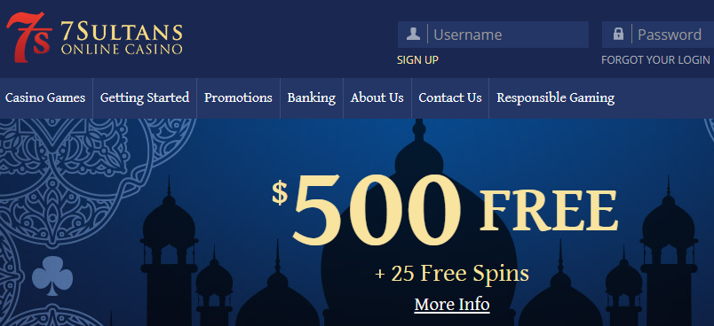 》Get Your 100% Reload Bonus on 5th Deposit up to C$500 at 7Sultans Casino