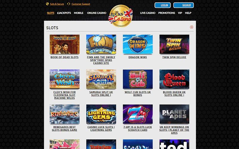Lucks Casino Slots Preview