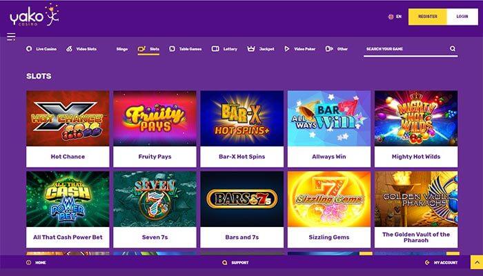 Yako Casino  Slots Preview