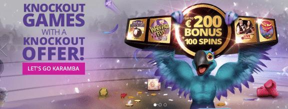 ★ First Deposit Bonus: 100% up to C$200 + 100 Free Spins on Live Casino at Karamba Casino