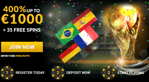 ★ Deposit and get a 400% First Deposit Bonus up to C$1000 + 35 Free Spins at 6Black Casino