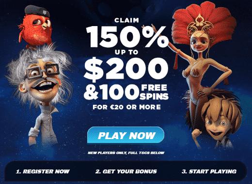★ 150% First Deposit Bonus up to C$200 + 100 Free Spins at AstralBet Casino