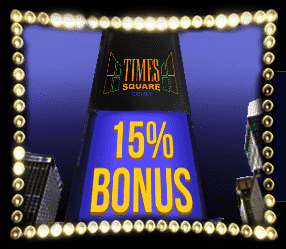 ★ 15% PostePay Bonus up to C$1000 at Times Square Casino