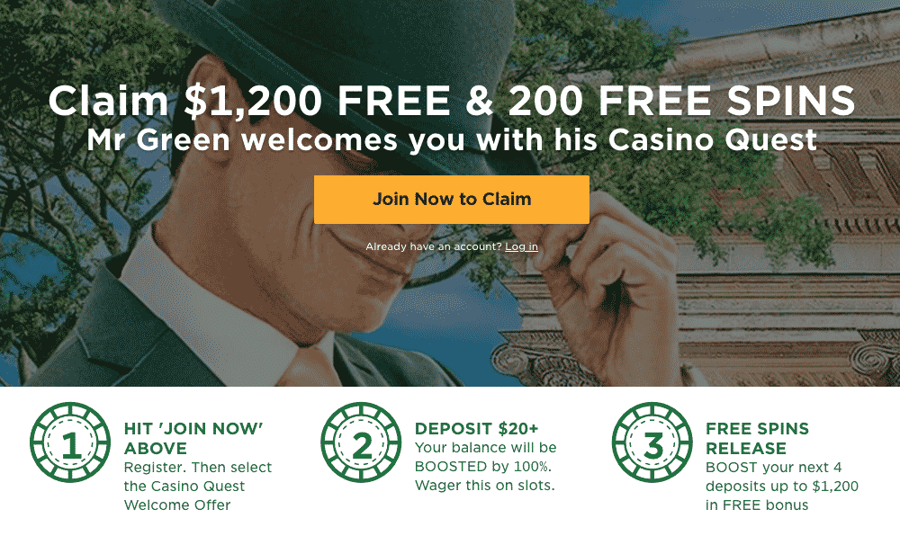 ★Catch the First Deposit Bonus: 100% up to C$100 + 200 Free Spins on Book of Dead at Mr Green Casino