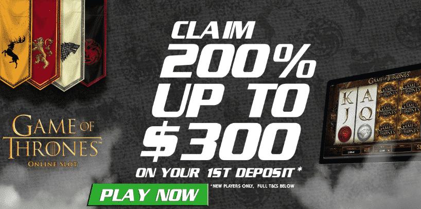 ★ 200% Jackpot Bonus up to C$300 at Wild Jackpot Casino