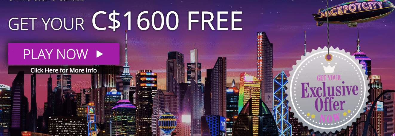 ★ Deposit and Get a 100% Deposit Bonus up to C$400 at JackpotCity Casino