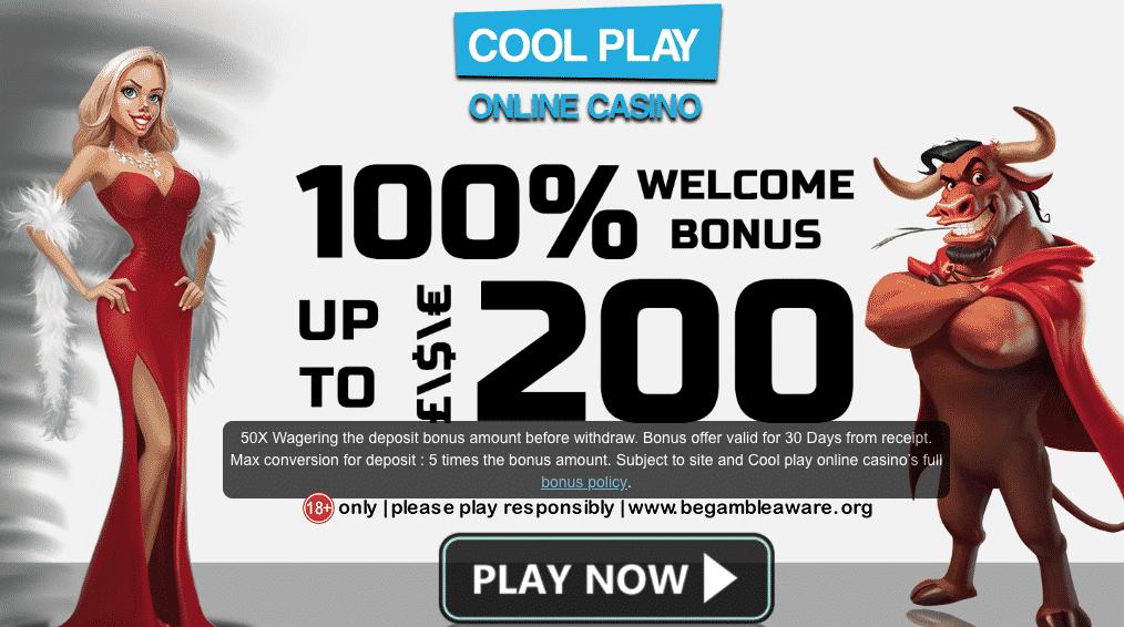 ★ Grab a 100% Deposit Bonus up to C$200 at Cool Play Casino