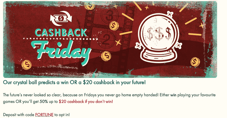 ★ Claim a Cashback Bonus of 50% up to C$20 at 777 Casino