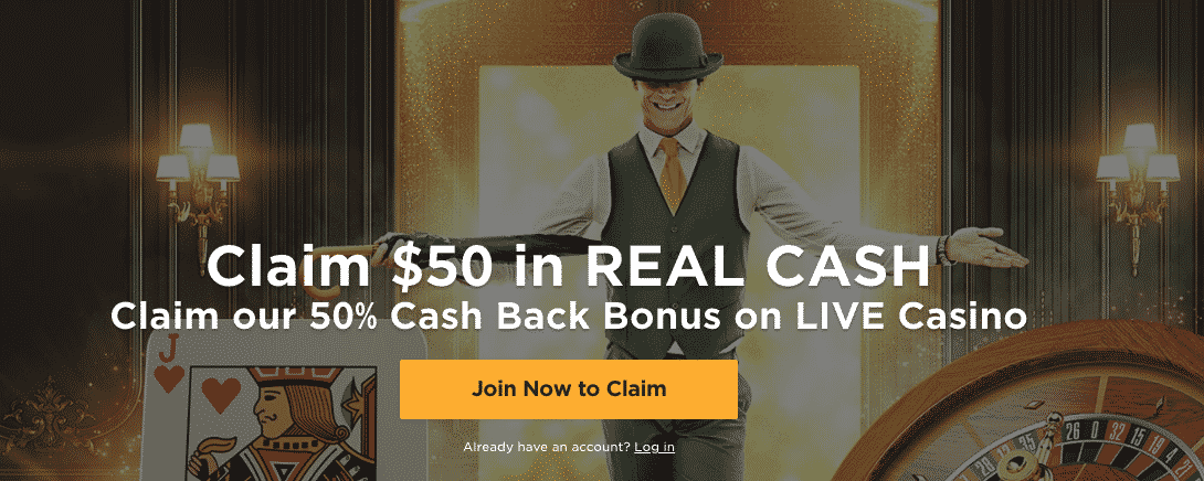 ★ 50% up to C$50 Cashback Bonus on Live Casino at Mr Green Casino