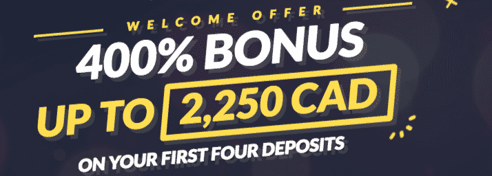 ★ Deposit and Get a Welcome Bonus of 400% up to C$2250 at Mr. Bet Casino