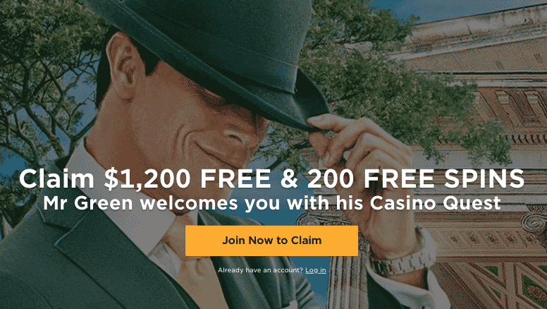 ★ Live Casino Bonus on First Deposit: 100% up to C$100 + 200 Free Spins on Book of Dead at Mr Green Casino