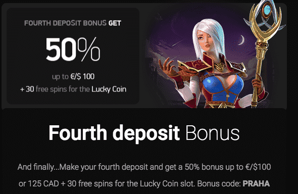 ★ Get a 50% Reload Bonus up to C$100 on Fourth Deposit + 30 Free Spins on Lucky Coin at BetChan Casino