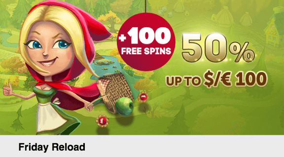 ★ 50% Friday Reload Bonus up to C$100 + 100 Free Spins on Lucky Lady's Clover at PlayAmo Casino