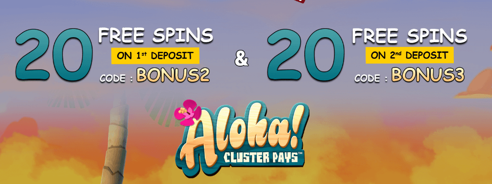★ 20 Free Spins on Second Deposit on Aloha at Conquer Casino