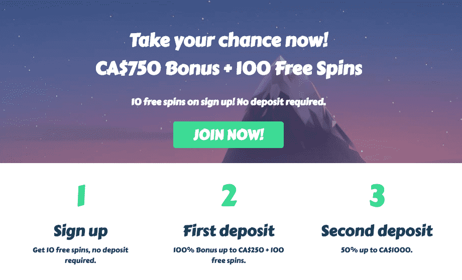 ★ First Deposit Bonus: 100% up to C$250 + 100 Free Spins at MyChance