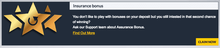 ★ Grab an Insurance Bonus at Casino1 Club