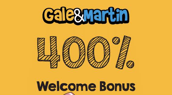 ★ Deposit and Get a 400% Bonus at Gale&Martin Casino