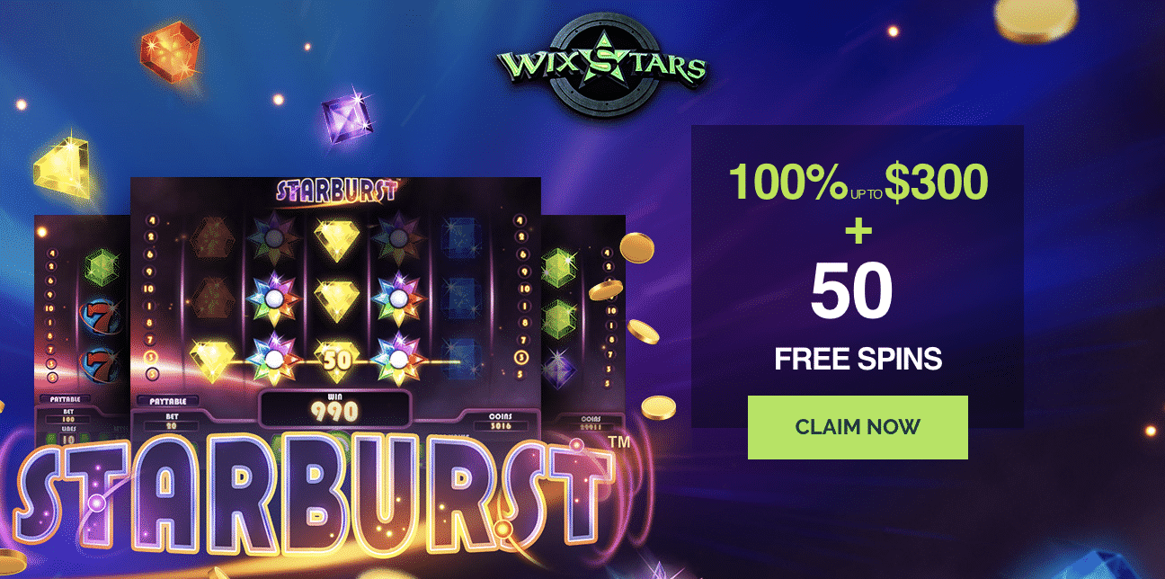 ★ Grab a 100% First Deposit Bonus up to C$300 + 50 Free Spins at Wixstar Casino