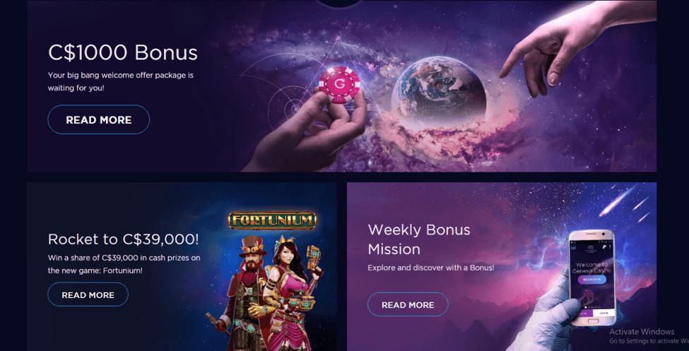 Genesis Casino Bonuses → 04-09-2019