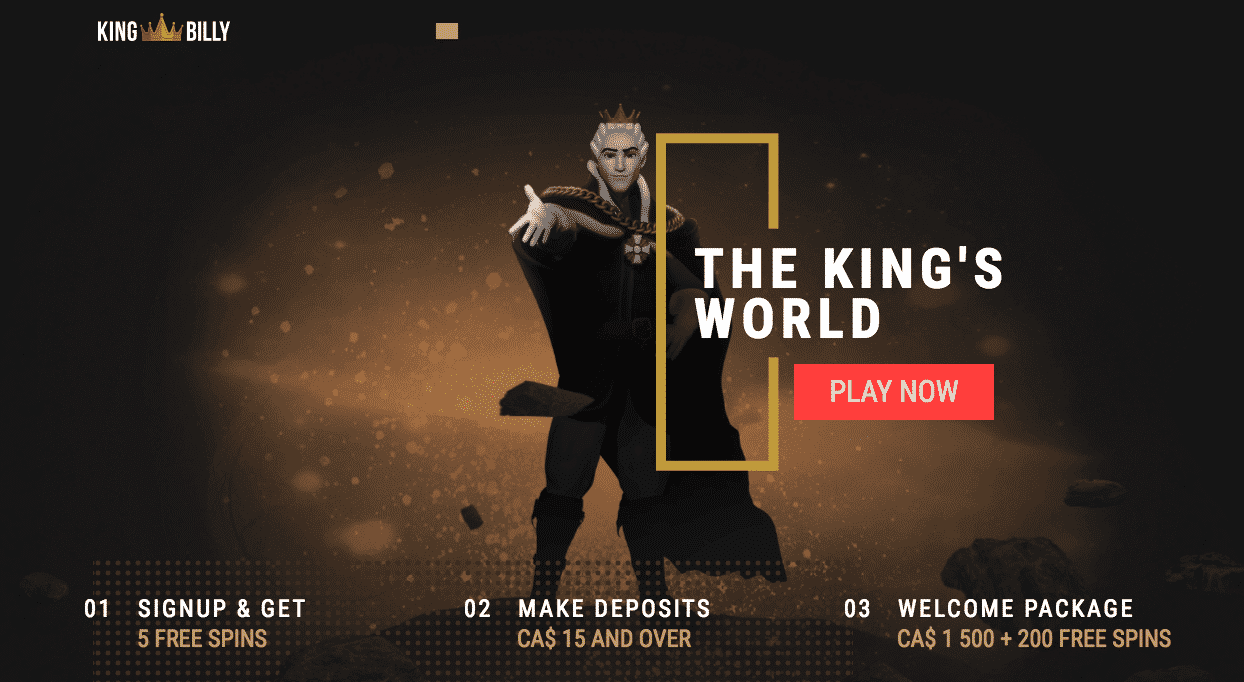 ★ First Deposit Bonus: 100% Bonus up to C$300 + 200 Free Spins at King Billy Casino