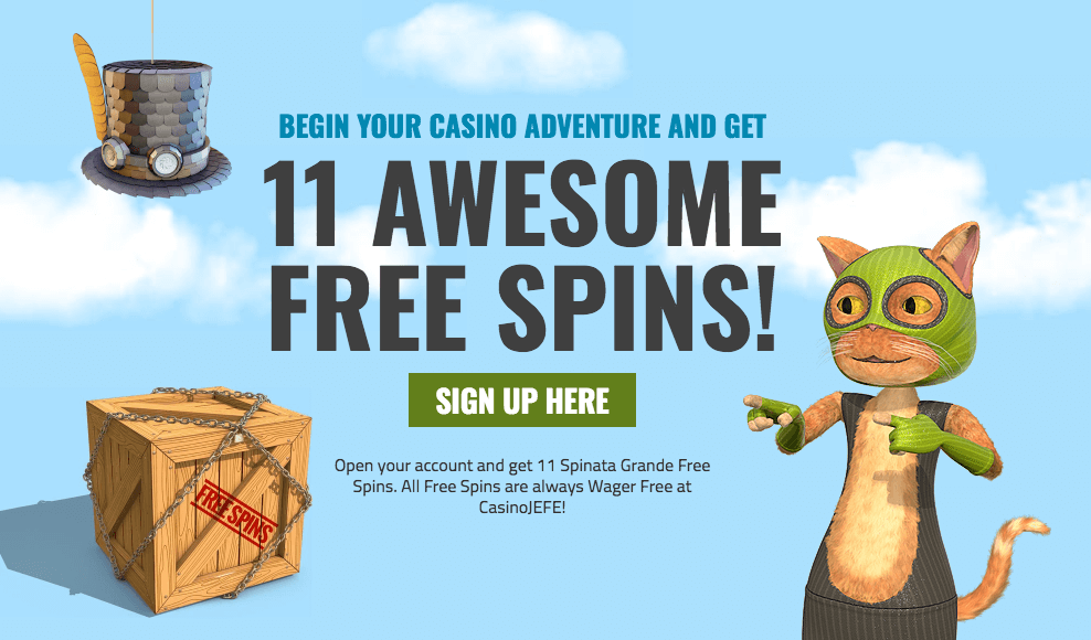 ★ Register and Get 11 Free Spins on Spinata Grande at Casino Jefe