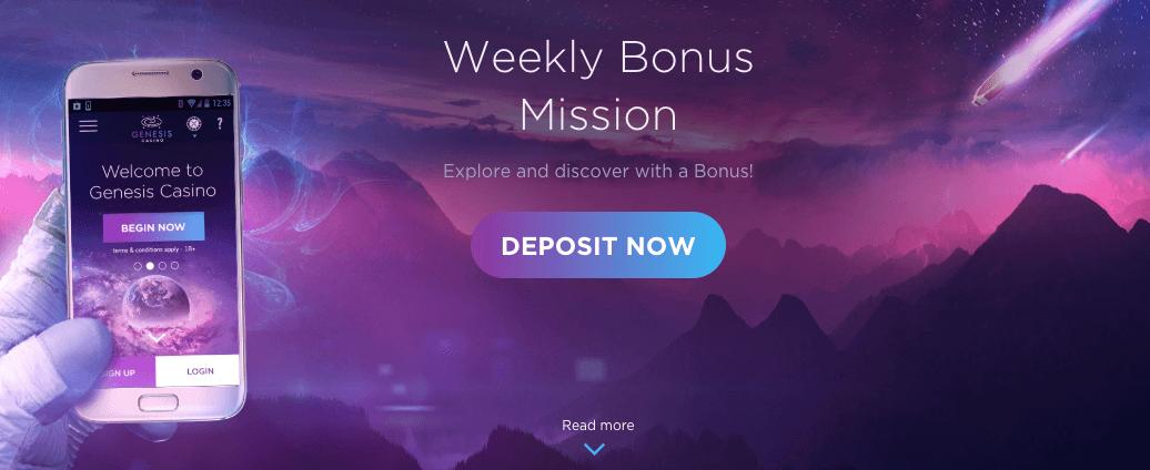 ★ 25% Friday Match Bonus up to C$100 at Genesis Casino