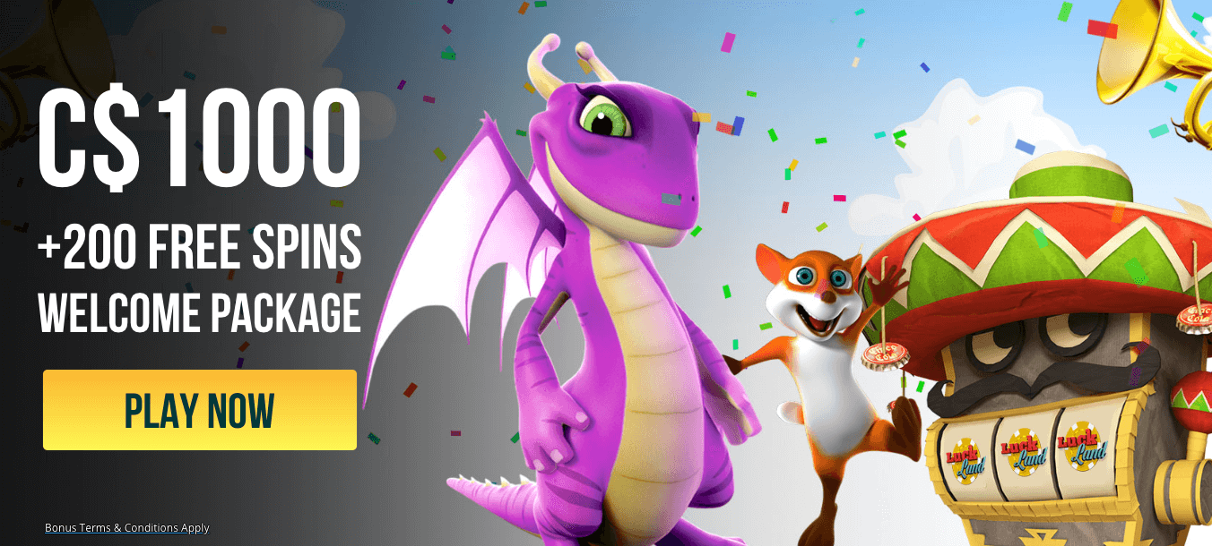 ★ C$1000 + 200 Free Spins Welcome Package at Luckland