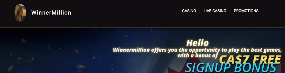 ★ Register and Get a C$7 No Deposit Bonus at WinnerMillion