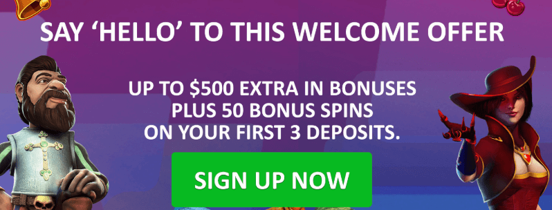 ★ Get a 100% Bonus up to C$100 + 25 Free Spins on First Deposit at Hello Casino