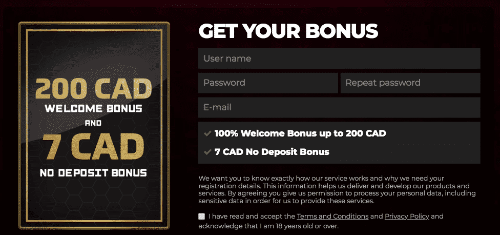 ★ C$7 Registration Bonus at EnergyCasino