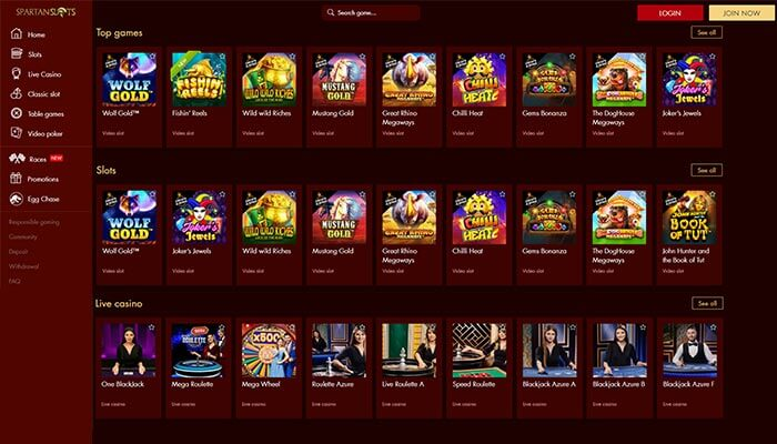 Spartan Slots Games Preview