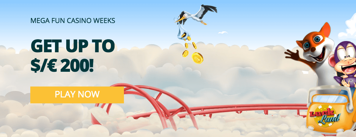 ★ Get a 40% Match Bonus up to C$200 at Luckland Casino