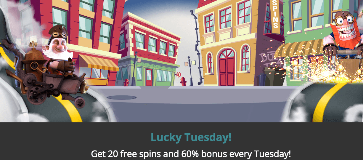 ★ Get 20 Free Spins + a 60% Match Bonus on Tuesday at Luckland Casino