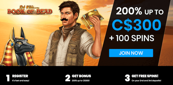★ Start Now With 200% up to C$300 + 100 Free Spins at Mr Play Casino