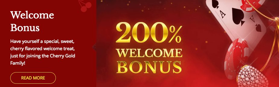 ★ 200% Welcome Bonus at Cherry Gold Casino
