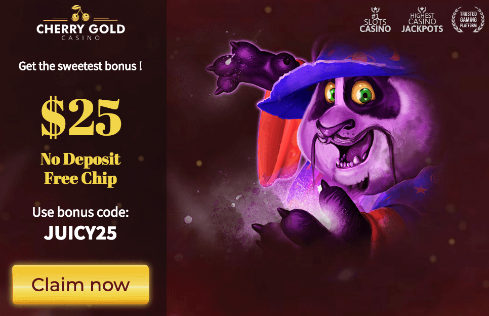 ★ Grab C$25 No Deposit Free Chip Bonus at Cherry Gold Casino