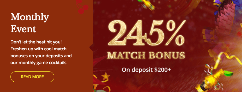 ★ Grab up to 245% Match Bonus + 50 Free Spins at Cherry Gold Casino