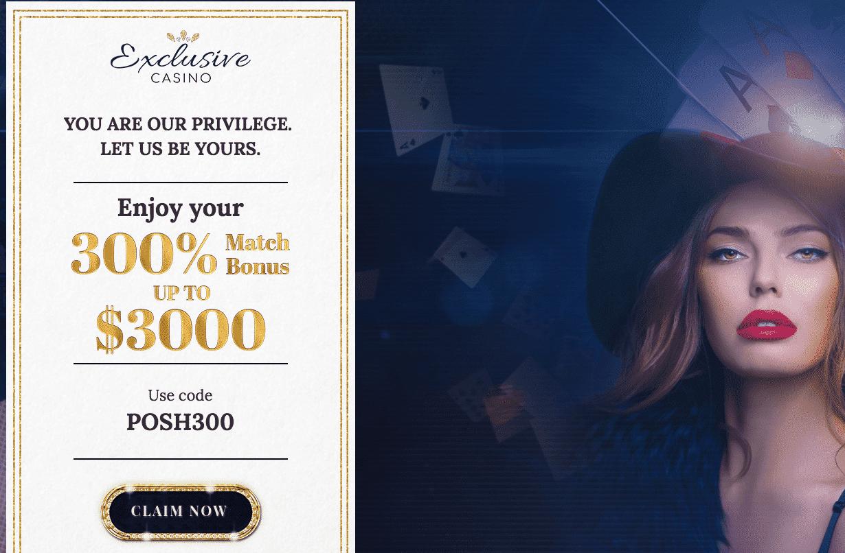 ★ 300% First Deposit Bonus up to C$3000 at Exclusive Casino