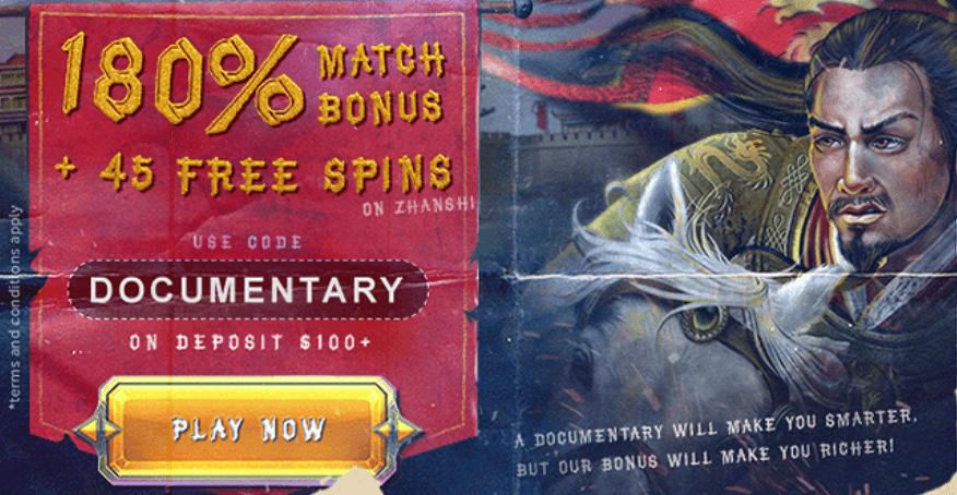 ★ 180% Slots Highroller Match Bonus + 45 Free Spins at BoVegas