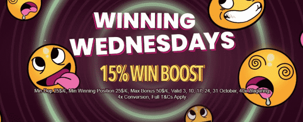 ★ Grab a 15% Wednesday Match Bonus up to C$50 at The Online Casino